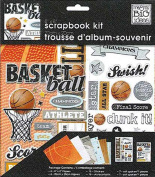 me & my BIG ideas 20cm by 20cm Scrapbook Page Kit, Basketball