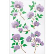 Martha Stewart Crafts Decorative Stickers, Purple Blossom