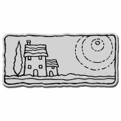 Stampendous Cling Rubber Stamp 8.9cm x 10cm Sheet-Villa Scene