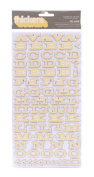American Crafts Thickers Printed Chipboard Letter Stickers, Fellow Honey