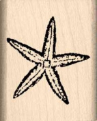 Starfish Rubber Stamp - 2.5cm x 2.5cm - 0.6cm