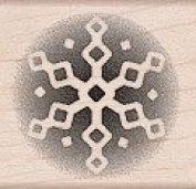 Midnight Snowflake Wood Mounted Rubber Stamp