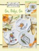 "Sue Dreamer Baby Bibs ""Go, Baby, Go"" Cross Stitch Book"