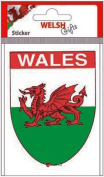 Sticker Shield WALES Dragon Green Border