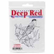 Deep Red Cling Stamp 8.3cm x 8.3cm -Songbird
