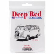 Deep Red Cling Stamp 5.7cm x 8.9cm -VW Bus