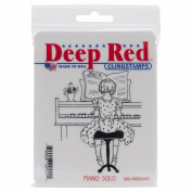 Deep Red Cling Stamp 7.6cm x 7.6cm -Piano Solo