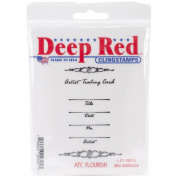 Deep Red Cling Stamp 5.1cm x 7.6cm -ATC Flourish
