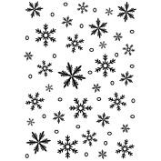 Darice Embossing Folder Background 13cm x 18cm -Snowflake