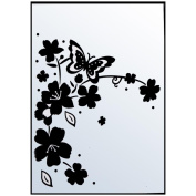 Crafts-Too Embossing Folder 10cm x 15cm -Flowers/Butterfly