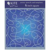 Judikins 15cm Square Kite Stencil-Silly String