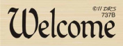 One Line Welcome Rubber Stamp By DRS Designs