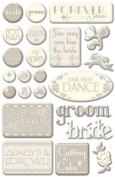 Wedding Day Epoxy Scrapbook Stickers