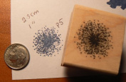 Dandelion rubber stamp WM 5.1cm x 5.1cm