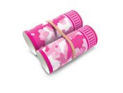 Box Play for Kids Pink Camo Binoculars Toilet Paper Roll Stickers