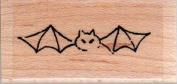 Mini Bat Wood Mounted Rubber Stamp