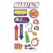Sticko Scrapbooking Stickers, Marathon