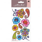 Sticko Scrapbooking Stickers, Mehndi Flowers