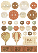 Kaisercraft Up, Up and Away Printed Chipboard 21cm by 15cm Sheets