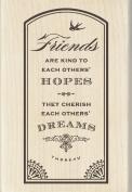 Inkadinkado Wood Stamp, Friends Hopes