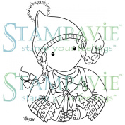 Stampavie Penny Johnson Clear Stamp-Gretchen's Gift 7.6cm - 1.3cm