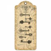 Staples Ornate Metal Keys 3.5cm To 5.4cm 8/Pkg-Antique Brass 4 Styles/2 Each