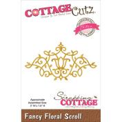 CottageCutz Elites Die-Fancy Floral Scroll