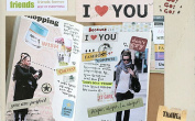 Message Sticker Set Vintage Style - 6 Creative sheets Diary Retro Scrapbooking