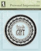 Inkadinkado Personal Impressions Stamp-Friends Are A Gift Doodle Frame