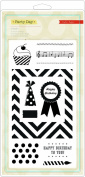 American Crafts Party Day Embellishment Stamps for Scrapbooking