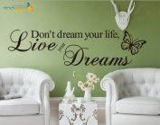 Toprate(TM) Don't Dream Your Life,Live Your Dreams - Inspirational Wall Quote Vinyl Art Decal Sticker Home Decor