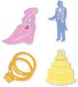 Sizzix Sizzlits Dies 4 IN 1 WEDDING SET For Scrapbooking, Card Making & Craft Projects