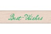 Quill Best Wishes Wood Mounted Rubber Stamp