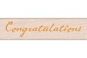 Quill Congratulations Wood Mounted Rubber Stamp