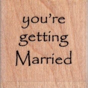 Getting Married Wood Mounted Rubber Stamp