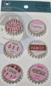Family Bottle Caps for Scrapbooking