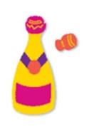 Ellison Design Thin Cuts - Champagne Bottle & Cork