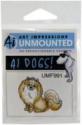 Art Impressions Pomeranian Rubber Stamp