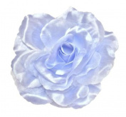 Cuteque International CQA106-LIGHT BLUE 3-Piece Packed Satin Organza Rose Embellishment, 10cm , Light Blue