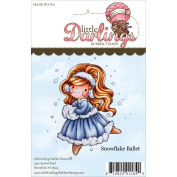 Little Darlings Unmounted Rubber Stamp 9.5cm x 8.3cm -Lisbeth Snowflake Ballet