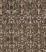 Tribal Print Paper- Dark Grey Print on Off White Paper 48cm x 60cm Sheet