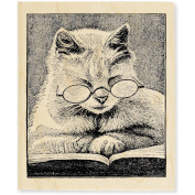 Stampendous Mounted Rubber Stamp V-Cattus Librum