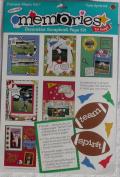 Frances Meyer Decorative Scrapbook Page Kit - Sports Team Spirit