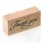 YazyCraft Woodbloack Decorative Wooden Stamp - Thanks