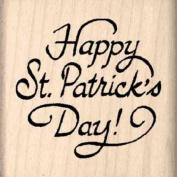 Happy St. Patrick's Day Rubber Stamp - 2.5cm - 1.3cm x 2.5cm - 1.3cm