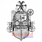 Deep Red Cling Stamp 7.6cm x 10cm -Flying Machine