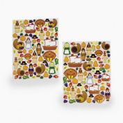 12 (1 Dozen) ~ Thanksgiving Sticker Sheets ~ 924 Stickers Total ~ 28cm X 20cm Sheets / Stickers 1.3cm - 5.1cm ~ New