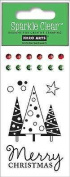 Merry Christmas Clear Unmounted Rubber Stamp Set