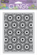 Hero Arts Cling Stamp, Dot Flower Pattern