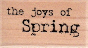 Spring Joy Wood Mounted Rubber Stamp